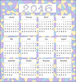 Calendar for 2016 in English,  mosaic Stock Image