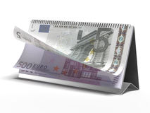 Calendar with euro bills Stock Photography