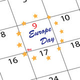 Calendar Europe day Royalty Free Stock Image