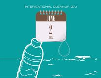 Congratulations for Cleanup Day. Calendar events of June - Congratulations for International Cleanup Day vector illustration