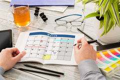 Calendar Events Plan Planner Organization Royalty Free Stock Photo