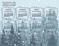 Calendar för året 2018 Arkivbild