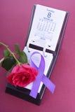 Calendar för internationella kvinnors dag Arkivbild