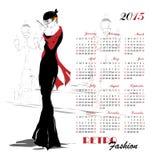 Calendar with fashion girl Stock Photos