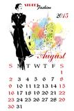 Calendar with fashion girl. Stock Images