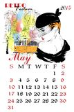 Calendar with fashion girl. Stock Image