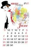 Calendar with fashion girl. Stock Photos