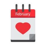 Calendar February 14 Stock Image