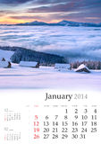 2013 Calendar. February. Stock Images