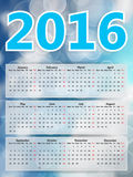 2016 calendar Festive background blurry lights, blue sky bokeh abstra Royalty Free Stock Photos