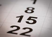 Calendar fifteen and twenty-two Stock Photo