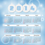Calendar 2014. This is file of EPS10 format Stock Photos