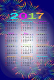 Calendar 2017 Royalty Free Stock Images