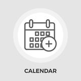 Calendar Flat Icon. Calendar with plus icon vector. Flat icon isolated on the white background. Editable EPS file. Vector illustration Stock Photography