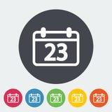 Calendar flat icon Stock Photos