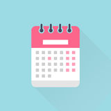 Calendar flat icon Royalty Free Stock Photos