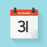 Calendar Flat Daily Icon. Vector Illustration Emblem. Royalty Free Stock Photo