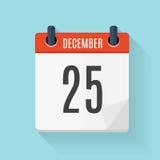 Calendar Flat Daily Icon. Vector Illustration Emblem.  Stock Photography