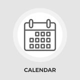 Calendar Flat Icon. Calendar Icon Vector. Flat icon  on the white background. Editable EPS file. Vector illustration Royalty Free Stock Photos