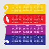 2015 calendar with flat numbers and long shadows. Illustration Royalty Free Stock Photography