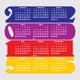 2015 calendar with flat numbers and long shadows. Illustration Royalty Free Stock Image