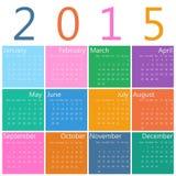 Calendar for 2015. Flat style design of calendar for 2015 Stock Photo