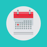 Calendar flat vector icon Royalty Free Stock Photos