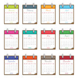 Calendar for 2014. On flip charts isolated on white, eps 10 format Stock Photography