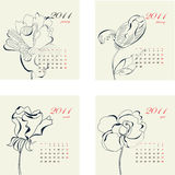 Calendar with flowers for 2011 Royalty Free Stock Photography