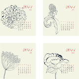 Calendar with flowers for 2011 Royalty Free Stock Photos