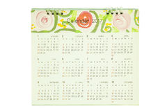 Calendar for 2017. With flowers Stock Photos
