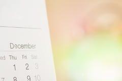 Calendar focus december   Stock Images