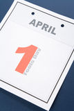 Calendar Fools' Day. Fools' Day, calendar date April 1 for background stock photo