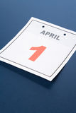 Calendar Fools' Day. Fools' Day, calendar date April 1 for background stock photos
