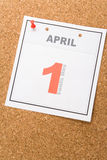 Calendar Fools' Day. Fools' Day, calendar date April 1 for background royalty free stock image