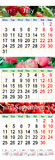 Calendar For July August September 2017 With Three Colored Images Royalty Free Stock Image