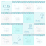 Calendar 2015. The format of the calendar is a vector illustration