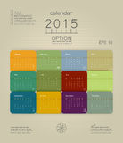 Calendar 2015. The format of the calendar is a Stock Photography