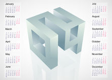 Calendar fot year 2014. Calendar 2014 template design with month charts. EPS-10 Royalty Free Stock Images