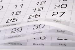 Calendar Royalty Free Stock Photo