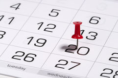 Calendar. Fragment perspective shot with partial blurred areas Royalty Free Stock Image