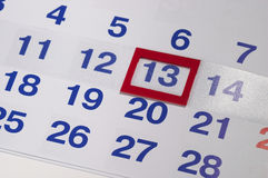 Calendar. Fragment perspective shot with partial blurred areas Stock Photography