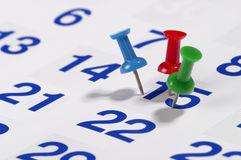 Calendar. Fragment perspective shot with partial blurred areas Stock Photo