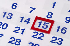 Calendar. Fragment perspective shot with partial blurred areas Royalty Free Stock Images