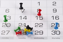 Calendar. Fragment perspective shot with partial blurred areas Stock Photos