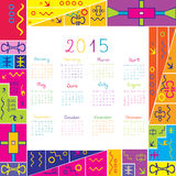 2015 calendar with frame for kids. 2015 calendar with colorful frame for kids vector illustration