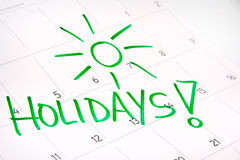 Calendar 2016 - free month for holidays, vacations Stock Image
