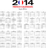Calendar 2014 French. Stock Photography