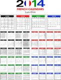 Calendar 2014 French. Royalty Free Stock Images