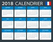 Calendar 2018 - French version Stock Photo